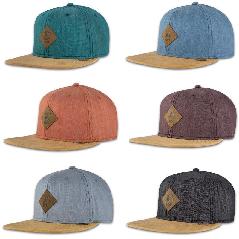 DJINNS ® LINEN SNAPBACK CAP 6 PANEL Classic Denim Patch Baseball ...
