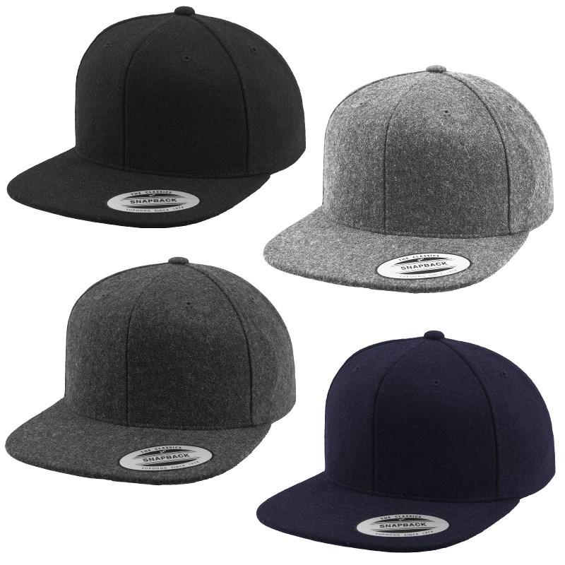 Yupoong Melton Wool Snapback Cap 6689M by Flexfit