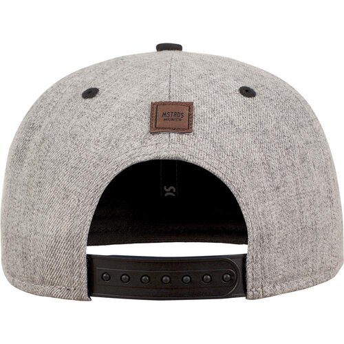 MSTRDS Letter Snapback Cap heather grey One Size