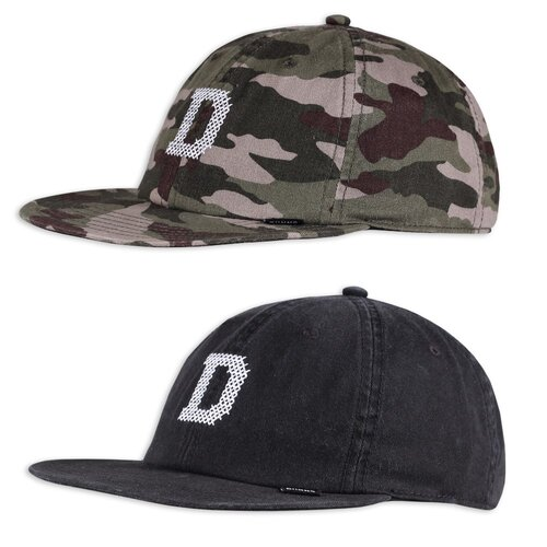 Djinns 6 Panel Snapback Cap Deconstructed Cross D