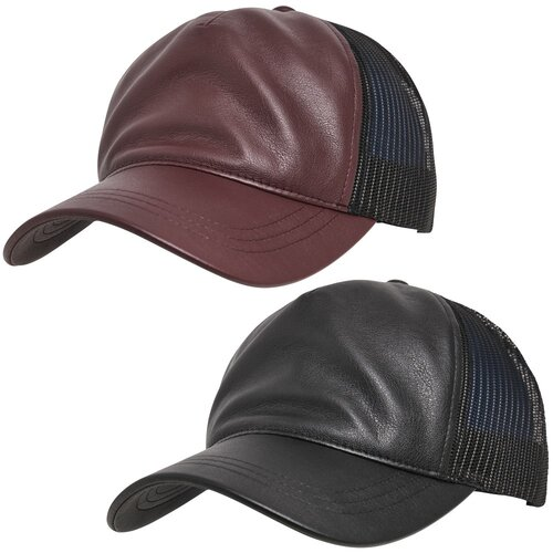 Yupoong Leather Trucker Cap