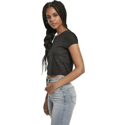 Urban Classics Ladies Stretch Pattern Cropped Tee
