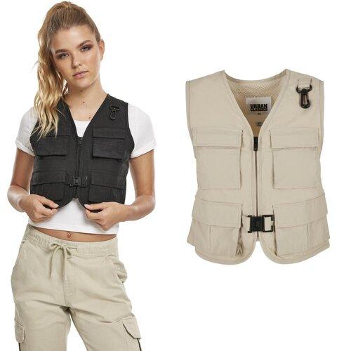 Urban Classics Damen Ladies Short Tactical Vest Jacke