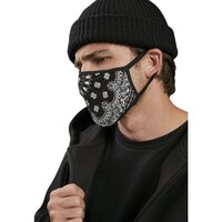 Mister Tee Bandana Face Mask 2-Pack black/white one size