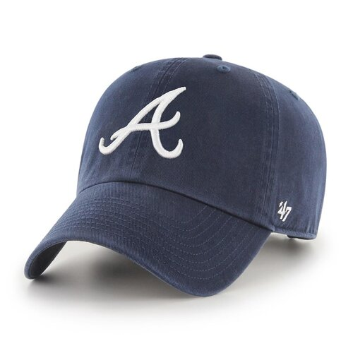 47 Brand MLB Atlanta Braves 47 CLEAN UP Strapback Cap